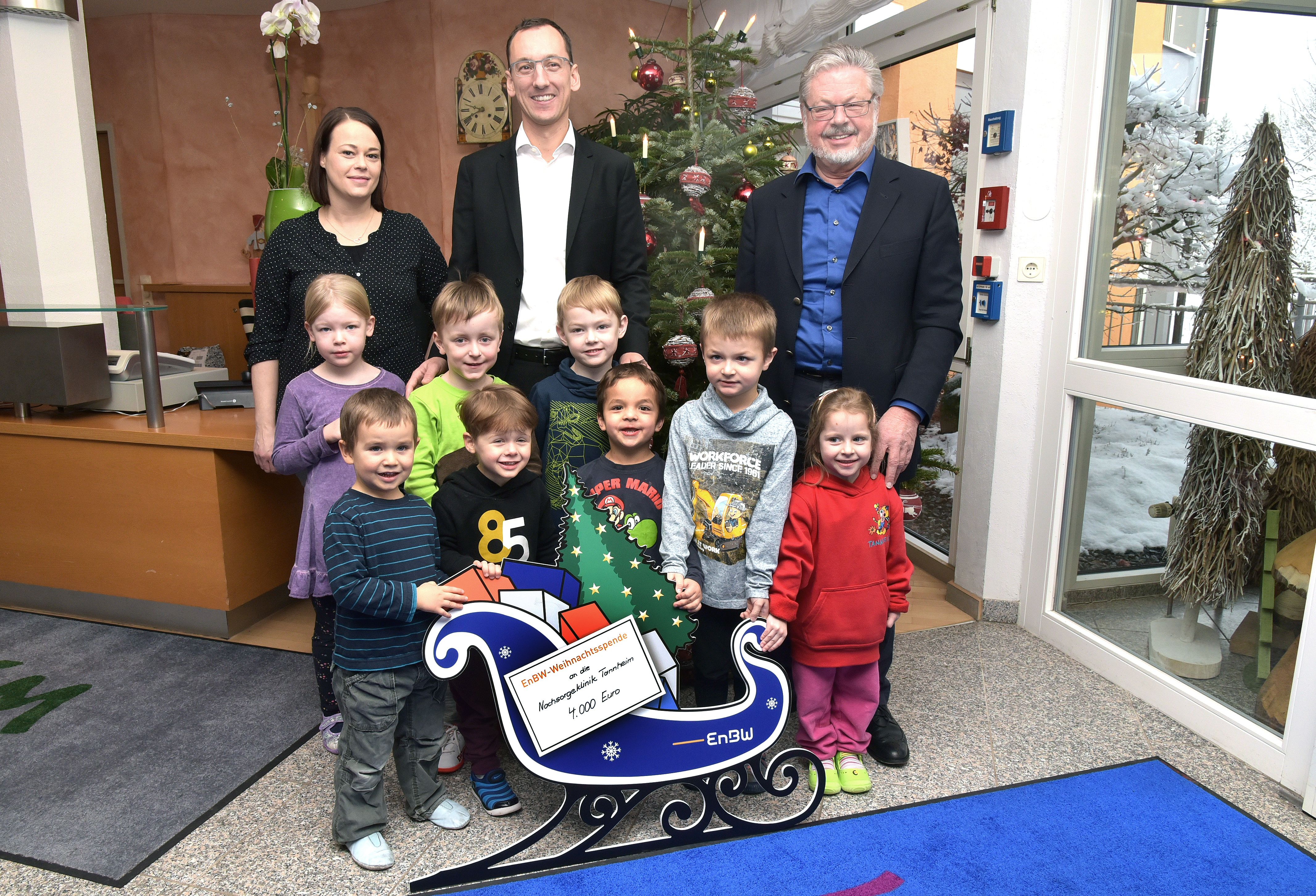 """Spenden statt Geschenke"""": EnBW übergibt 4000 Euro an Nachsorgeklinik ..."""